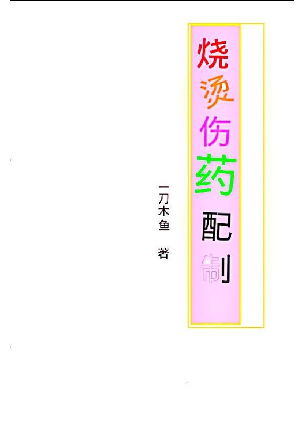 烧烫伤药配制. 一刀木鱼著.pdf